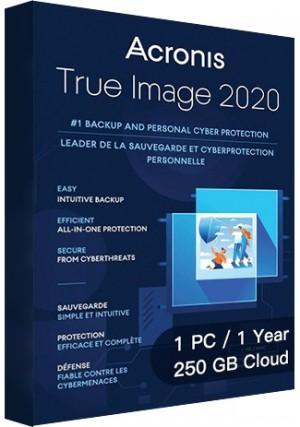 Acronis True Image 2020 Advanced - 1 PC/1 Year/250GB Cloud