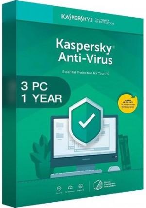 Kaspersky Antivirus 2020 / 3 PCs (1 Year)