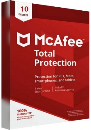 McAfee Total Protection - 10 Devices/1 Year
