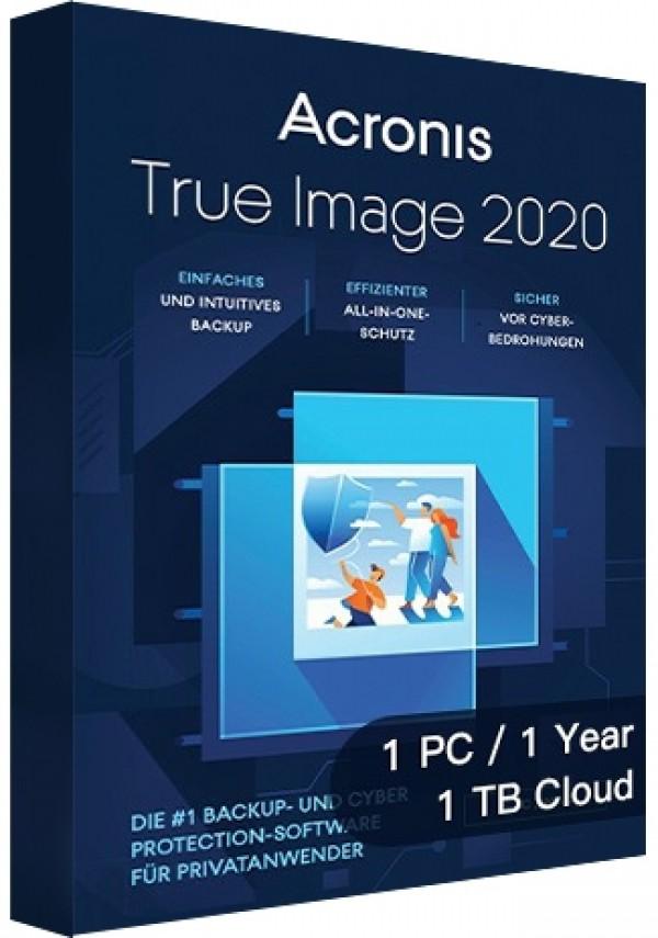Acronis True Image 2020 Advanced - 1 PC/1 Year/1TB Cloud